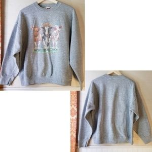 Vintage 80s | three Cows Sweatshirt